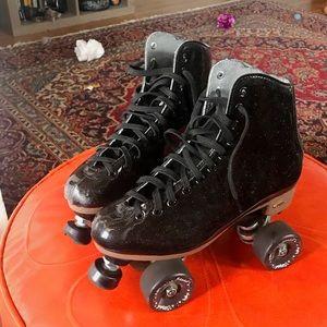 Women's Black Stardust Suregrip Glitter Skates